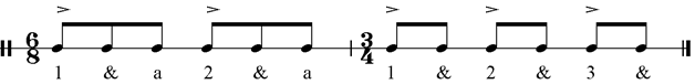 Musical example – compás of guajiras